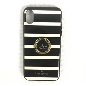 KATE SPADE IPHONE X Stripped Phone Case
